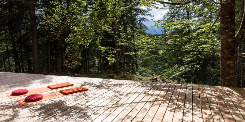 Abb. zu NEU im Kranzbach: Yoga- und Meditationsplattform