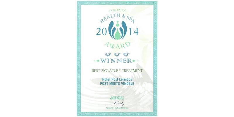 Abb. zu Hotel Post Lermoos gewinnt European Health & SPA-Award 2014